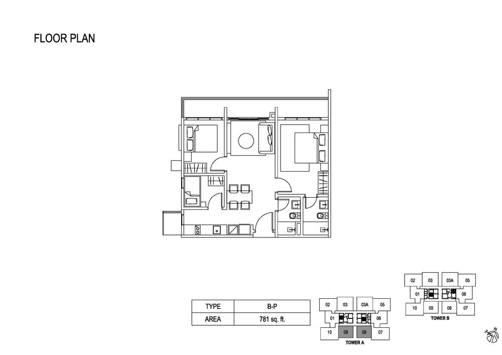 Fera Residence @ The Quartz Type B-P Floor Plan