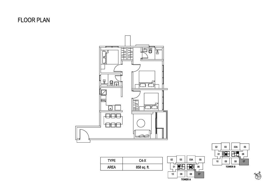 Fera Residence @ The Quartz Type C4-X Floor Plan