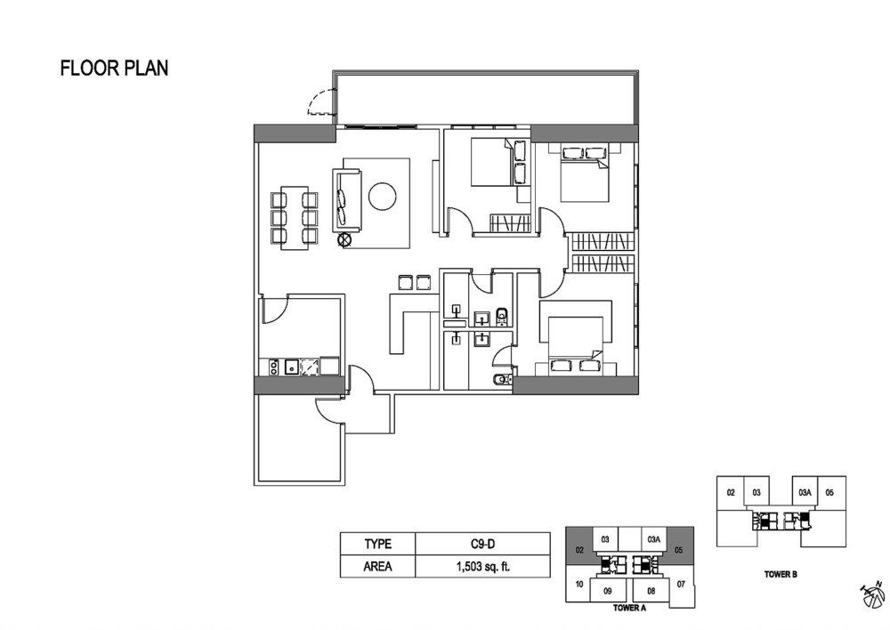 Fera Residence @ The Quartz Type C9-D Floor Plan