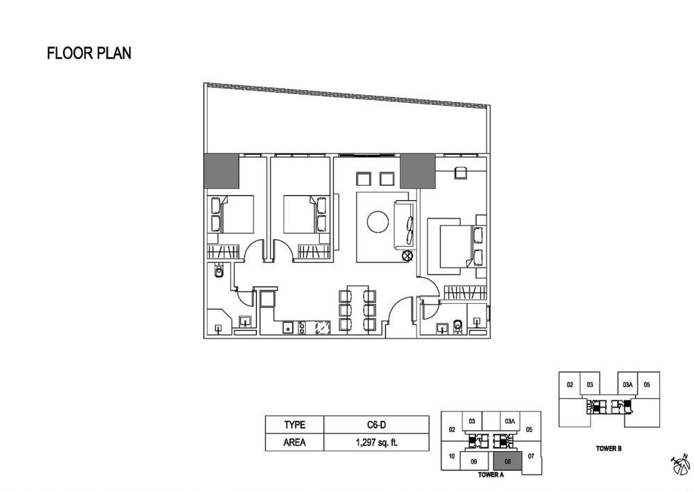 Fera Residence @ The Quartz Type C6-D Floor Plan