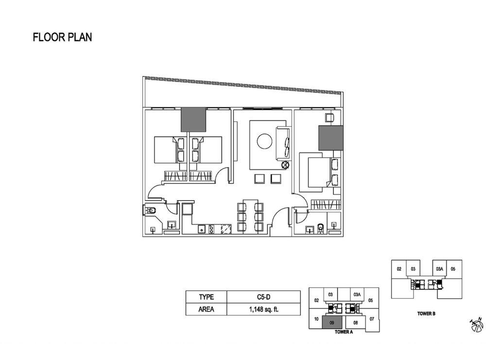 Fera Residence @ The Quartz Type C5-D Floor Plan