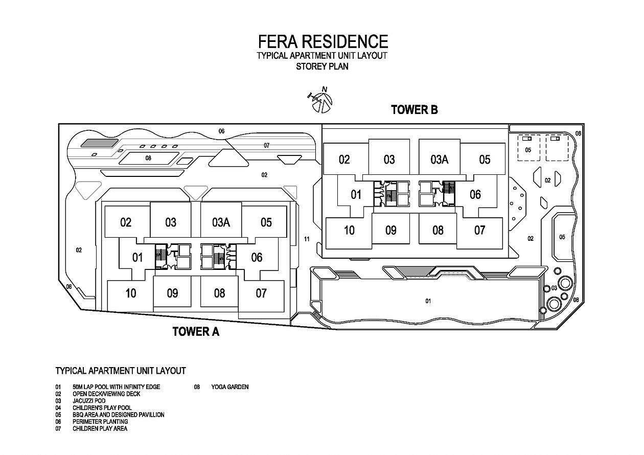 Site Plan of Fera Residence @ The Quartz