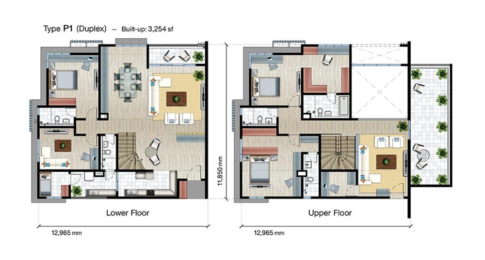 SkyVue Residence Type P1 Floor Plan