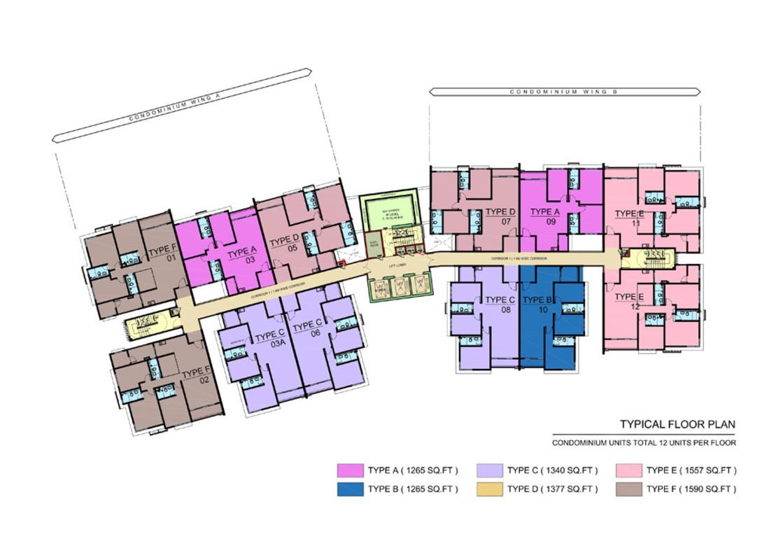 Master Plan of SkyVue Residence
