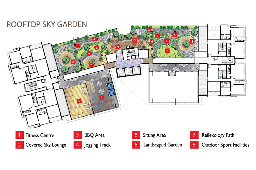 Site Plan of SkyVue Residence