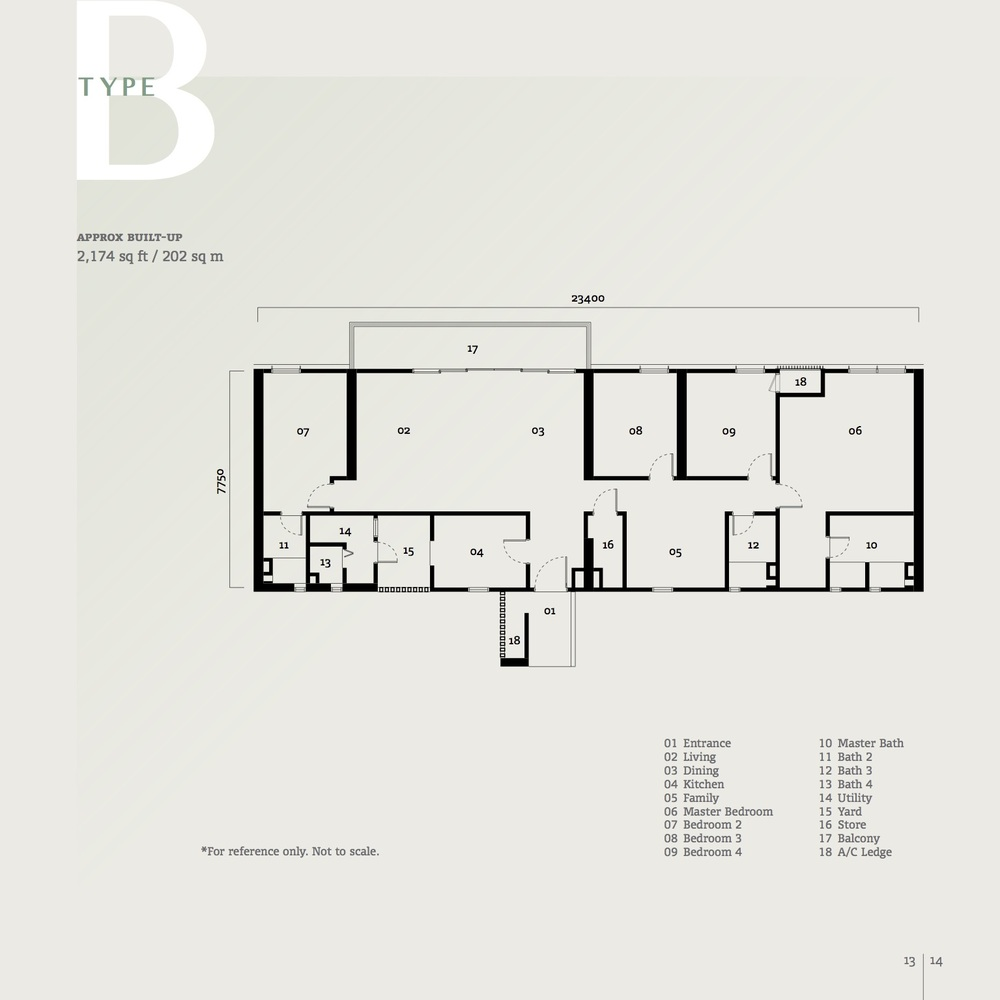 SqWhere Serviced Apartment - Type B Floor Plan