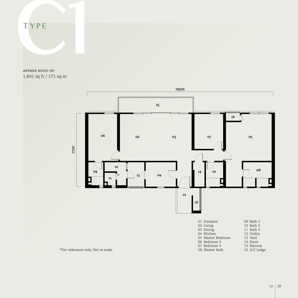 SqWhere Serviced Apartment - Type C1 Floor Plan