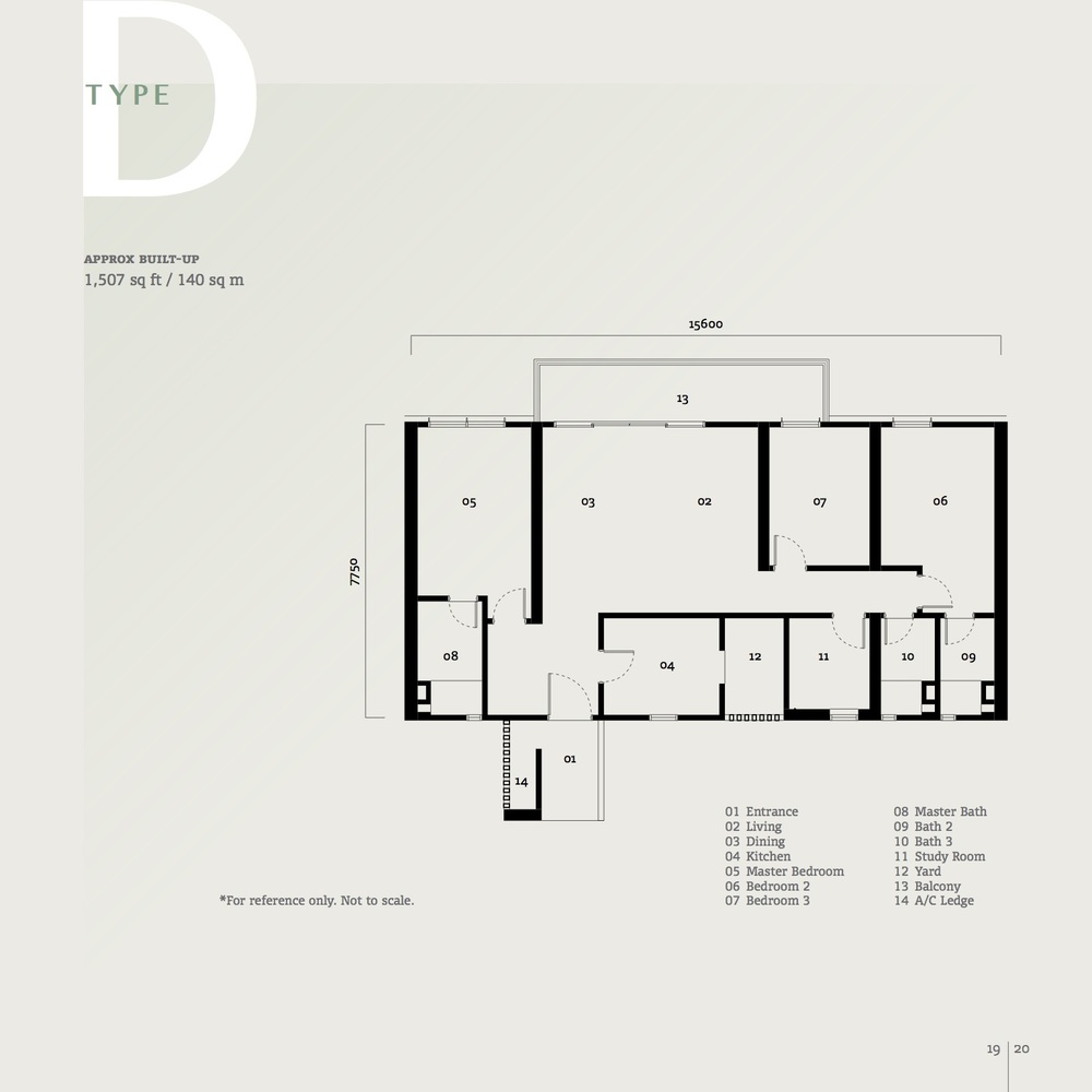 SqWhere Serviced Apartment - Type D Floor Plan