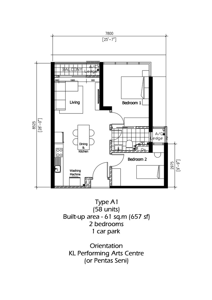 Rica Residence Type A1 Floor Plan