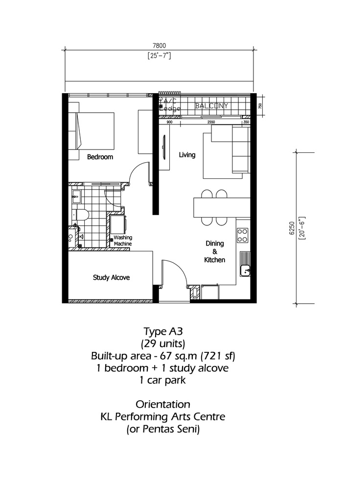 Rica Residence Type A3 Floor Plan
