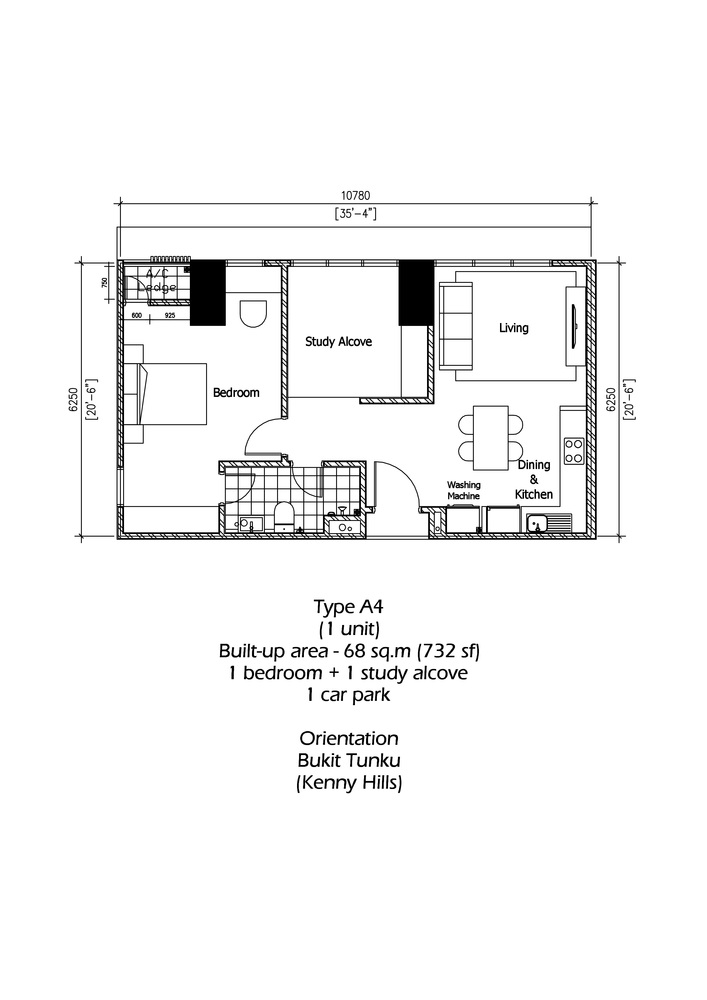 Rica Residence Type A4 Floor Plan