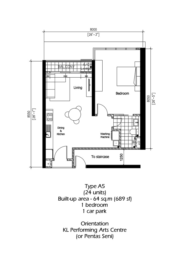 Rica Residence Type A5 Floor Plan