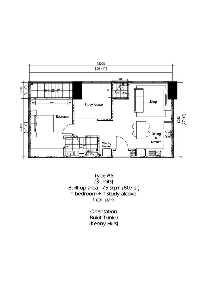 Rica Residence Type A6 Floor Plan