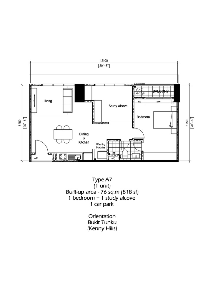 Rica Residence Type A7 Floor Plan