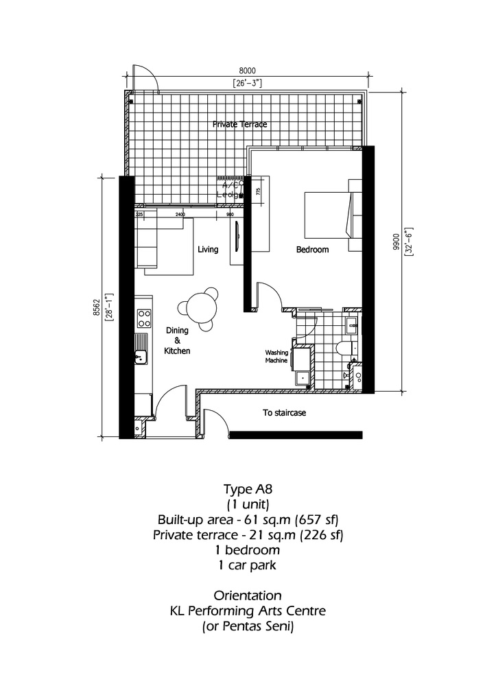Rica Residence Type A8 Floor Plan