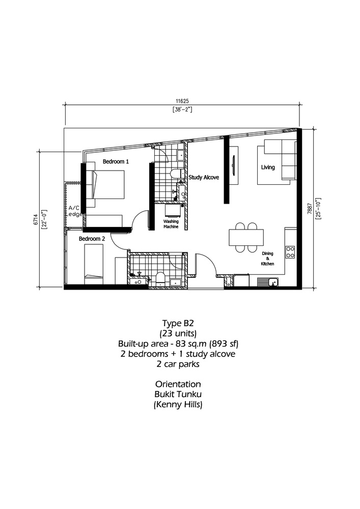 Rica Residence Type B2 Floor Plan