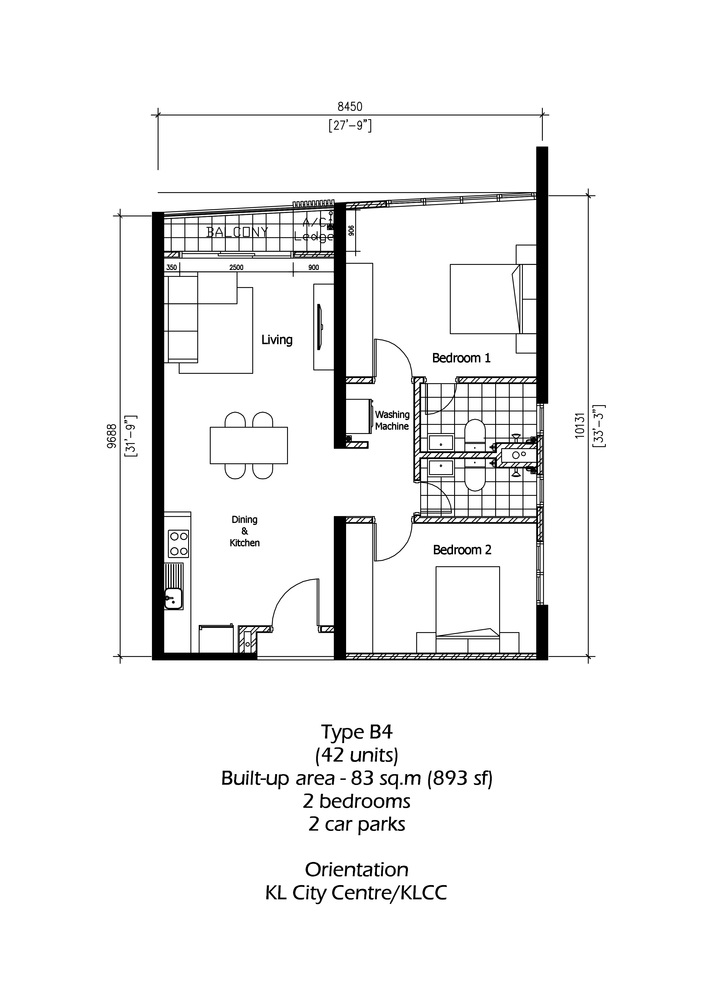 Rica Residence Type B4 Floor Plan