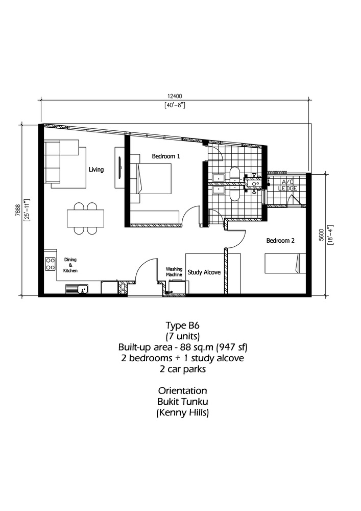 Rica Residence Type B6 Floor Plan