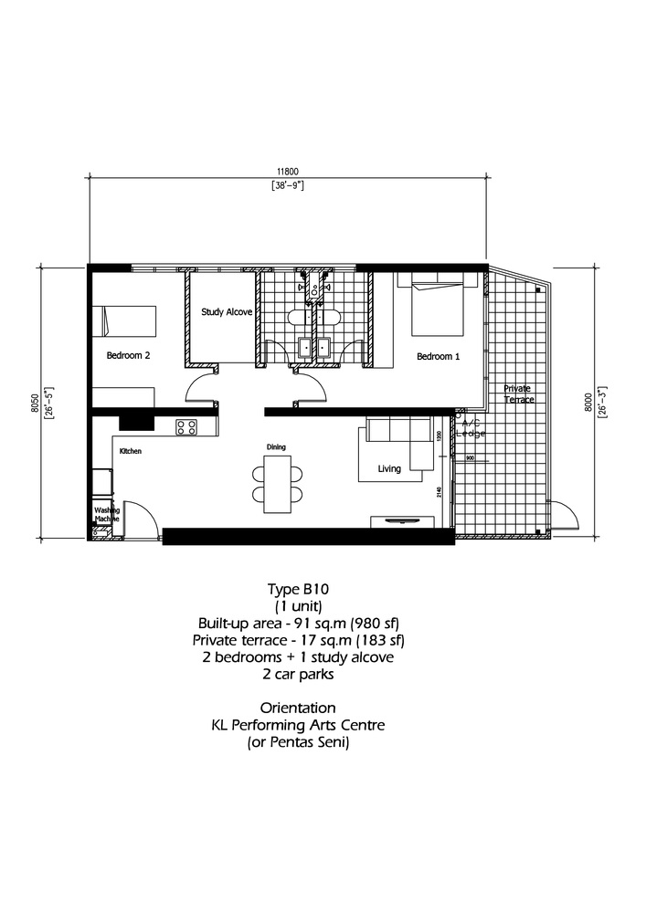 Rica Residence Type B10 Floor Plan