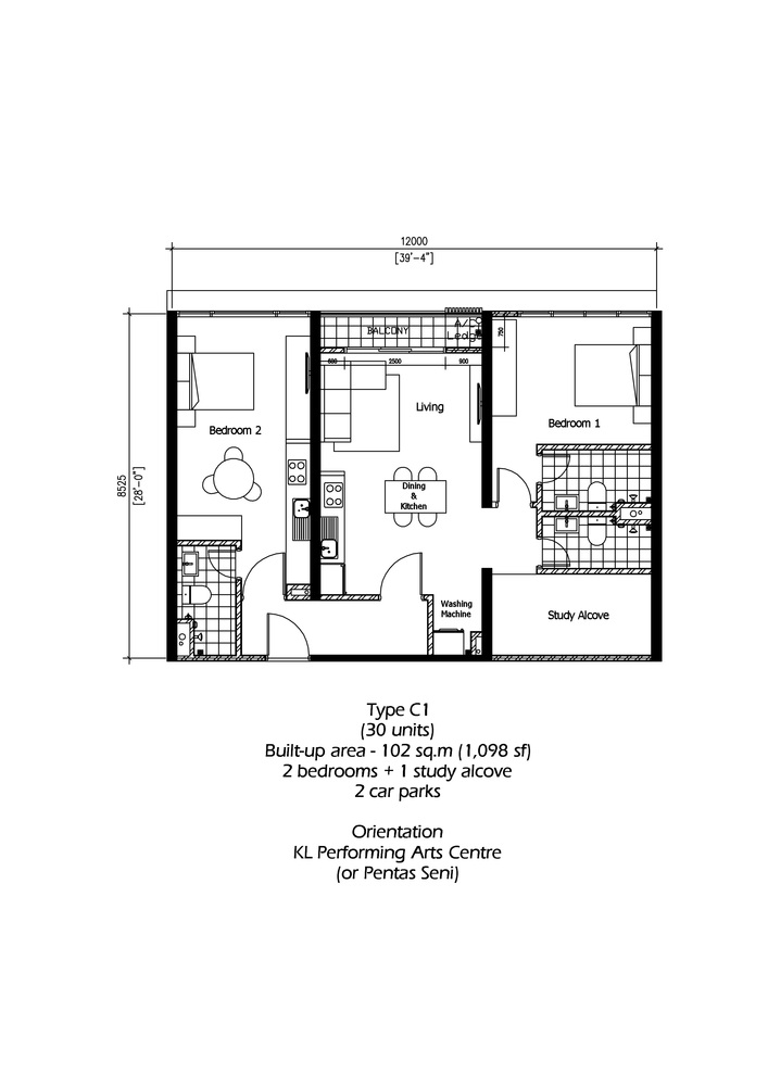 Rica Residence Type C1 Floor Plan