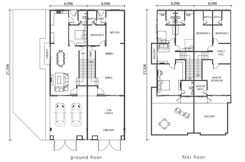 Violet @ Citra Hill 2 Standard Unit Floor Plan