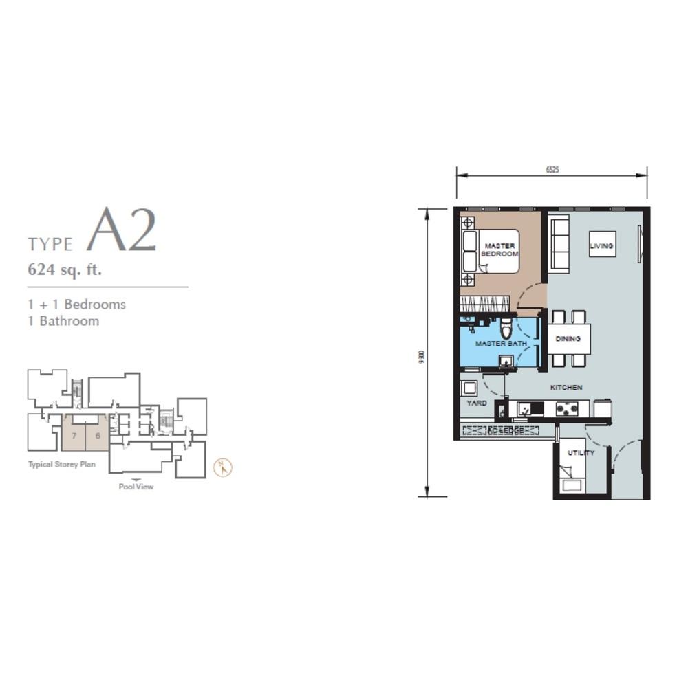 TRIO by Setia Type A2 (Block B) Floor Plan