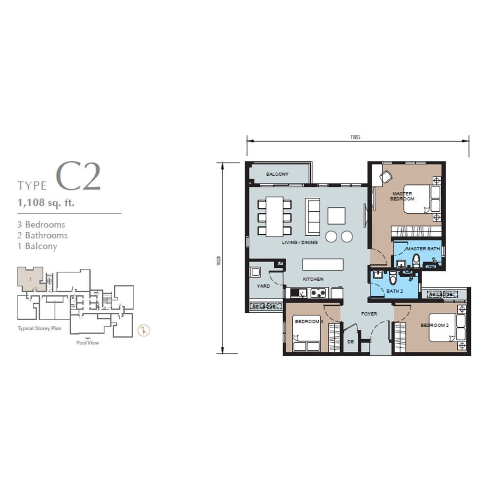 TRIO by Setia Type C2 (Block B) Floor Plan