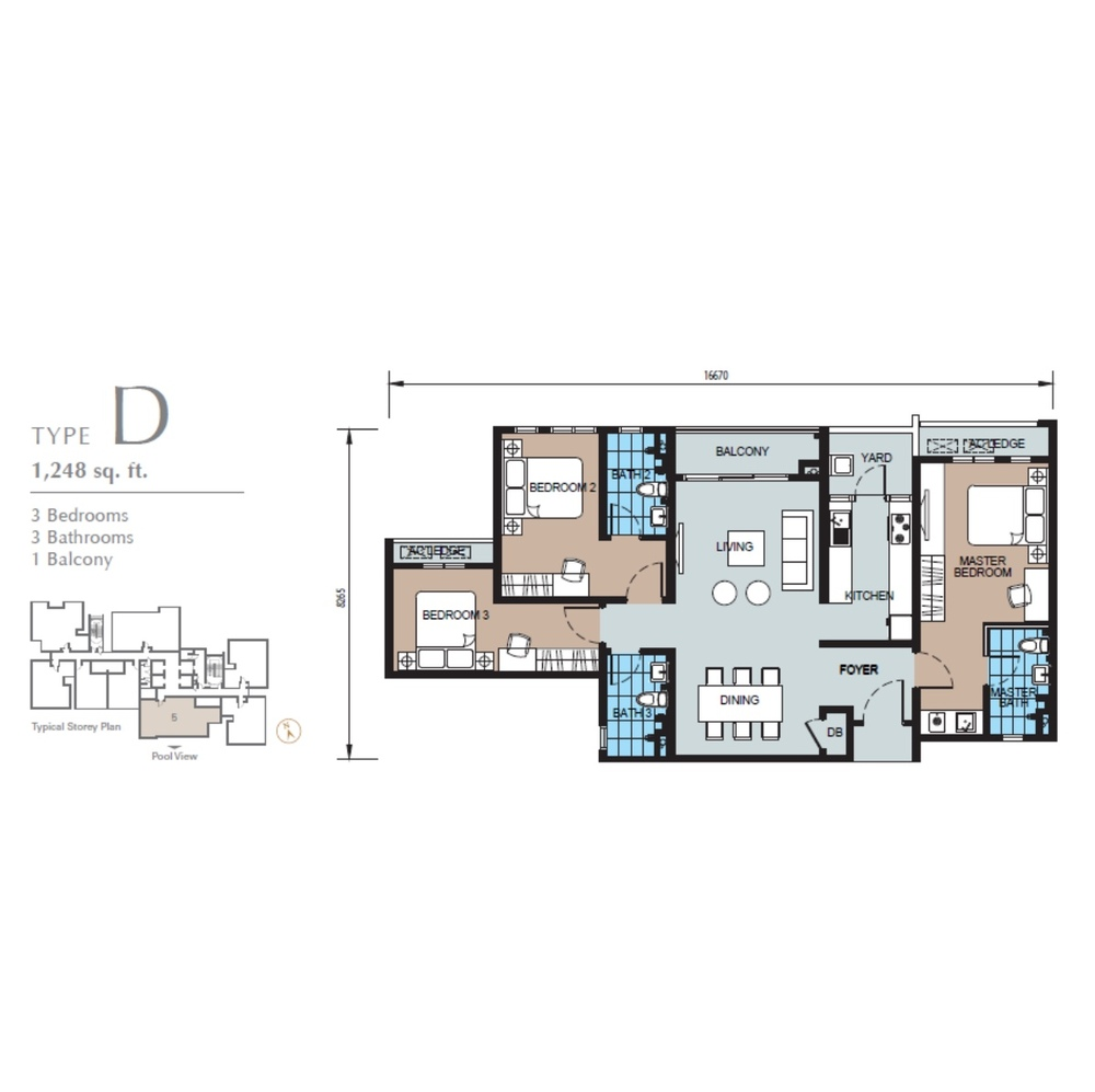 TRIO by Setia Type D (Block B) Floor Plan
