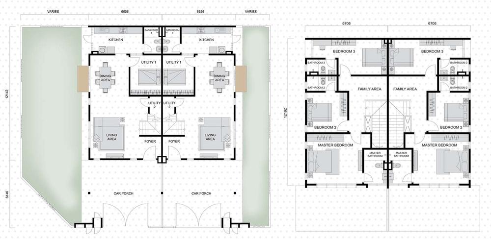 Setia EcoHill 2 Everna 1 Floor Plan