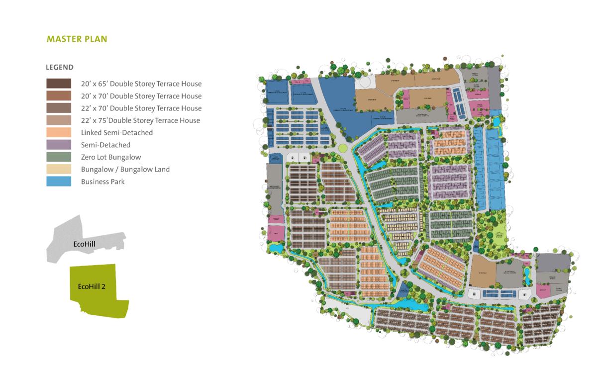 Master Plan of Setia EcoHill 2