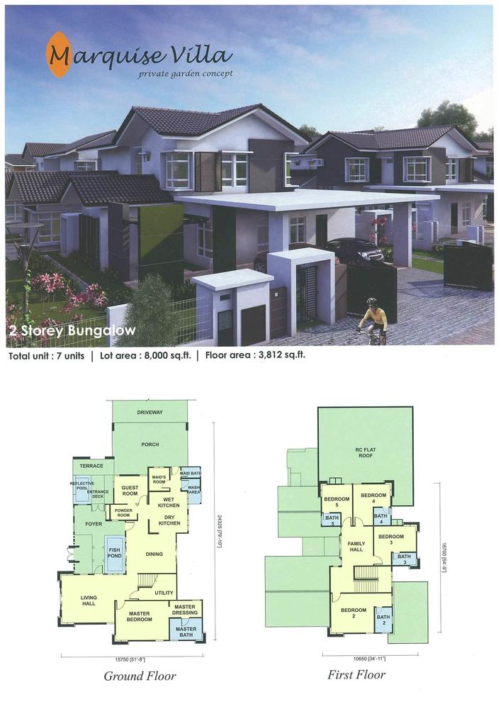 UDA Heights Marquise Villa Floor Plan