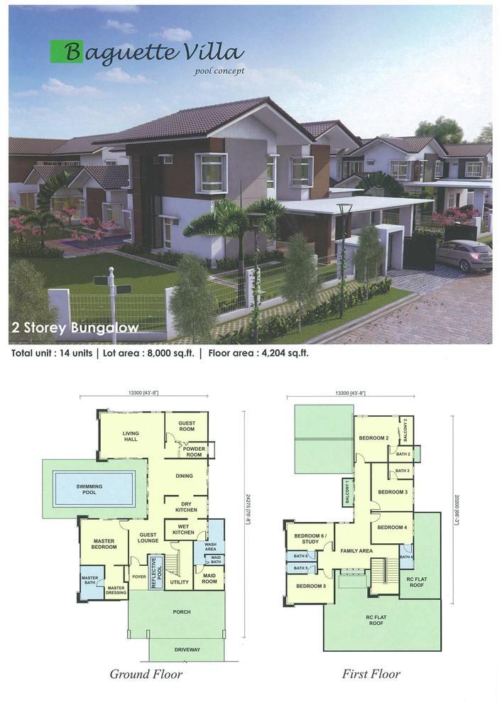 UDA Heights Baguette Villa Floor Plan