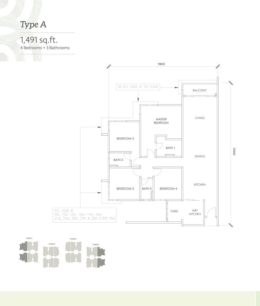 Kaleidoscope Type A Floor Plan
