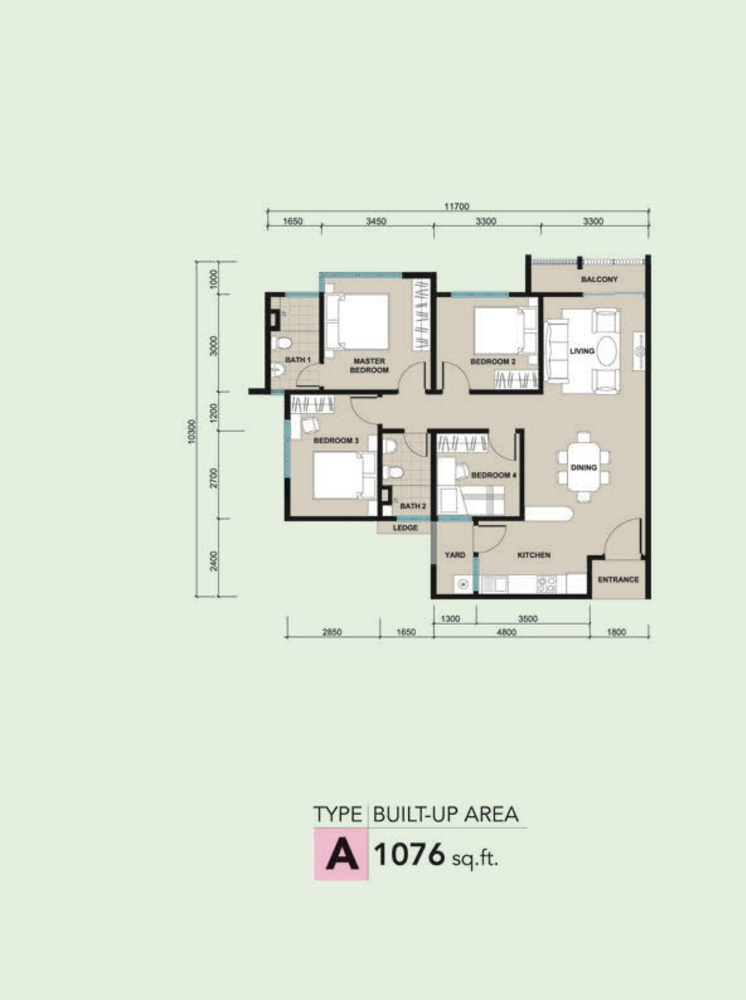 Kalista 2 Type A Floor Plan