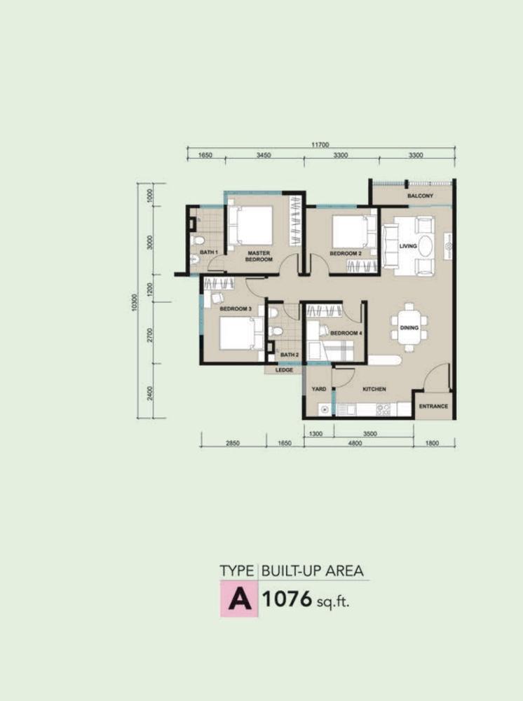 Kalista 2 Type A Floor Plan