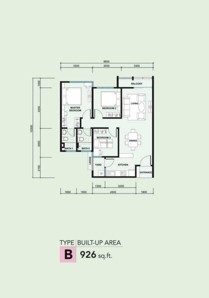 Kalista 2 Type B Floor Plan