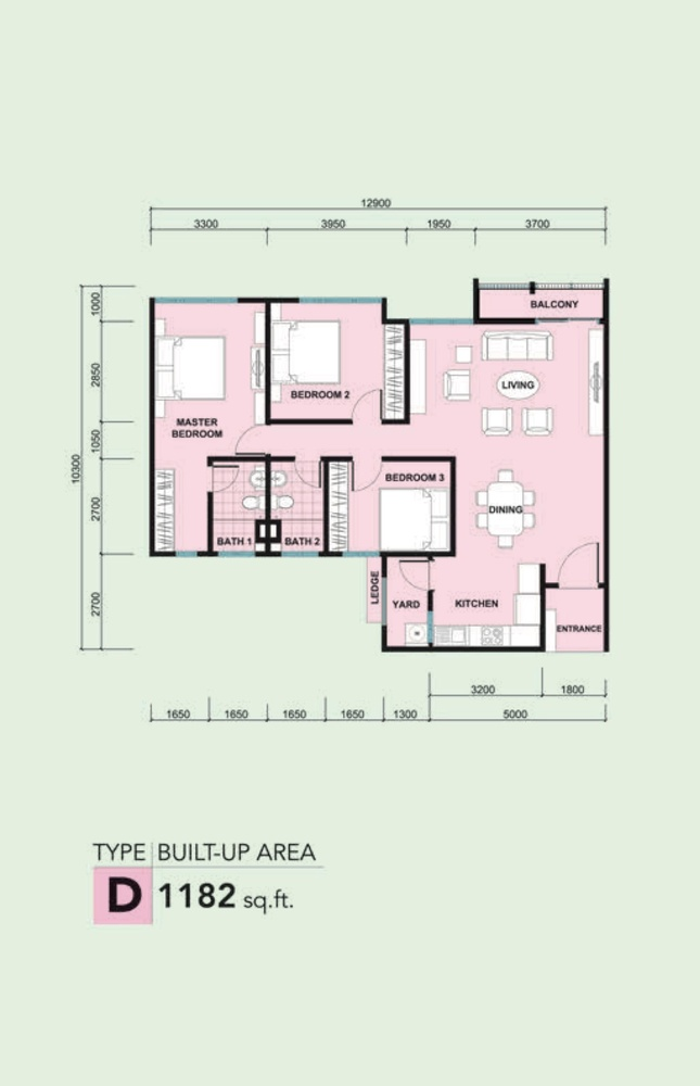 Kalista 2 Type D Floor Plan