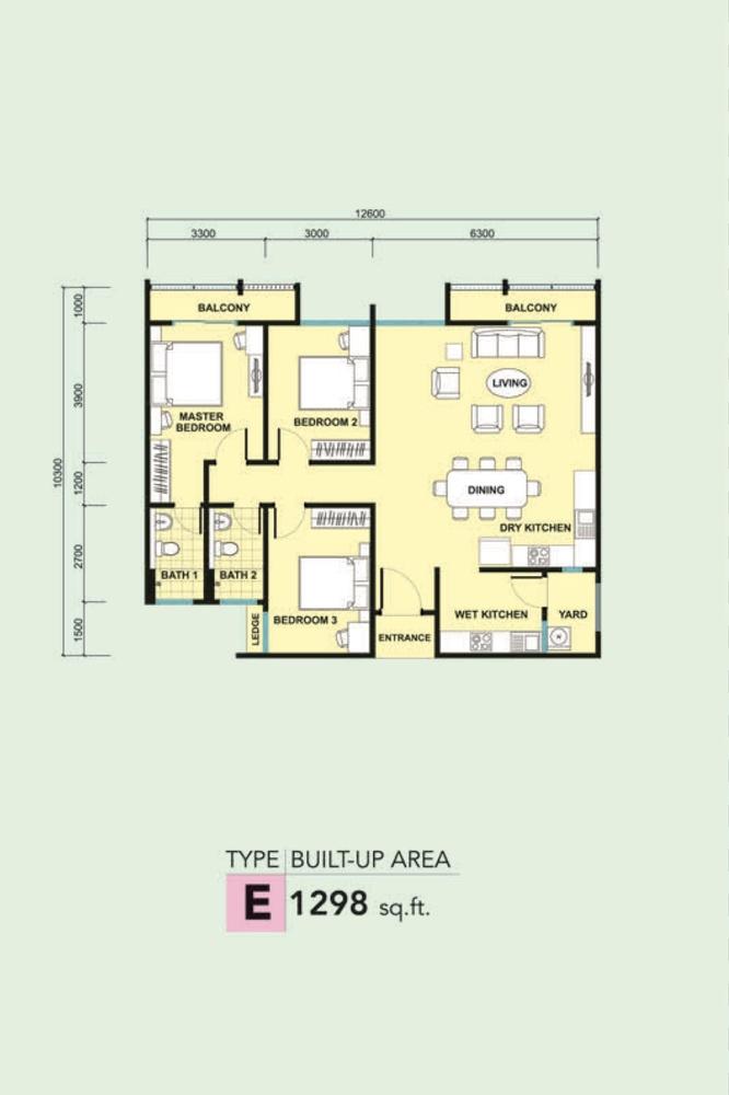 Kalista 2 Type E Floor Plan