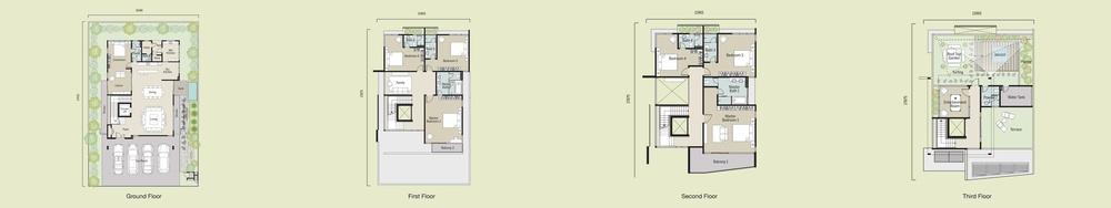 Aspen Bungalows @ Garden Residence Standard Unit Floor Plan