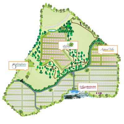 Master Plan of Aspen Bungalows @ Garden Residence