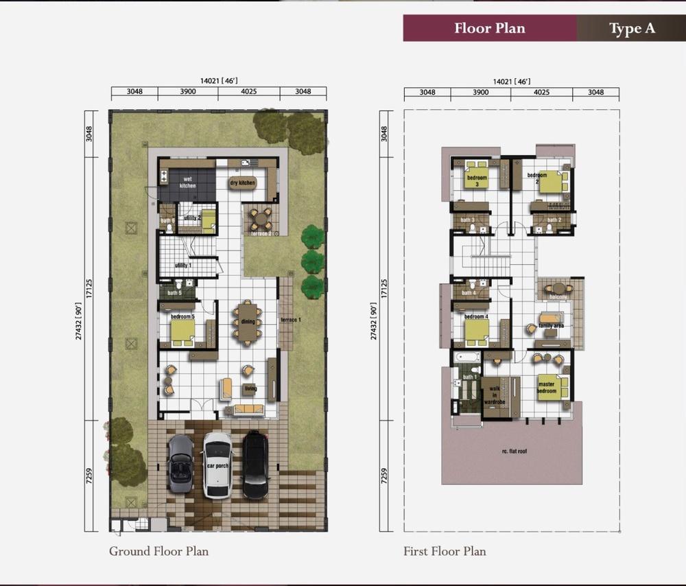 Ametrine Ametrine 1 (Type A) Floor Plan