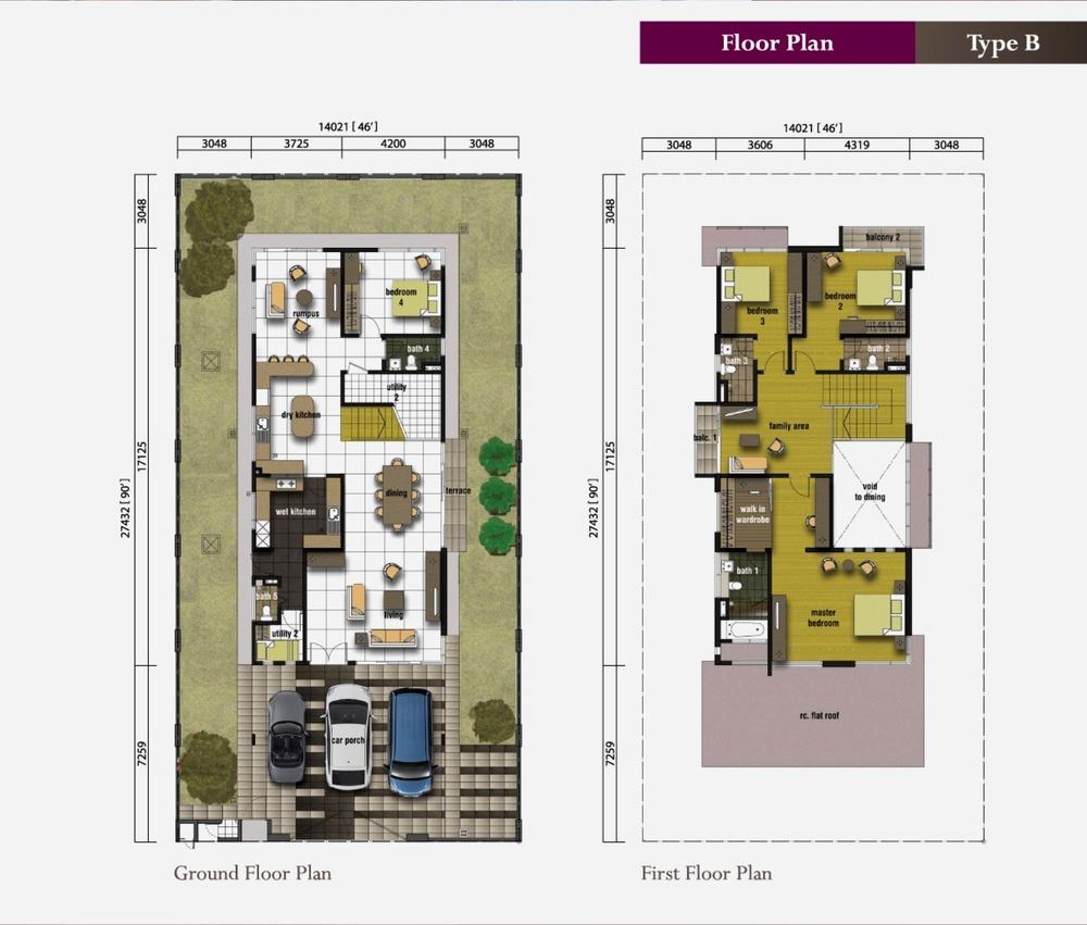 Ametrine Ametrine 2 (Type B) Floor Plan