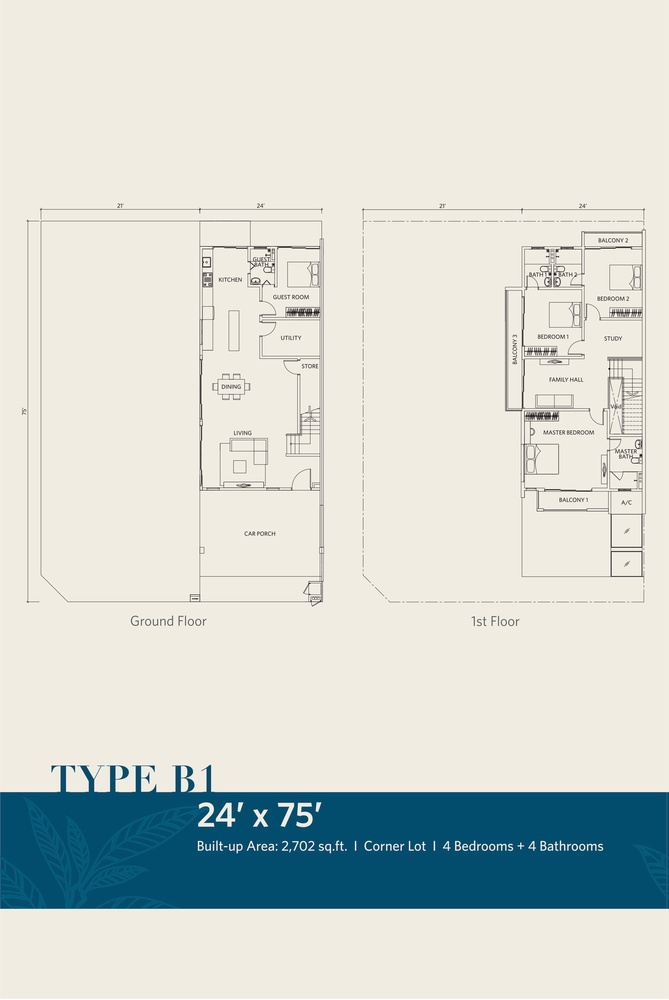 CasaView @ Cybersouth Type B1 Floor Plan
