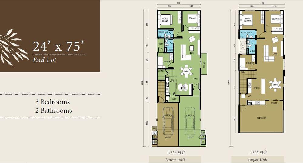 Bellevue @ Cybersouth End Lot (Lower & Upper Unit) Floor Plan