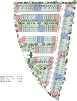 Site Plan of Bellevue @ Cybersouth