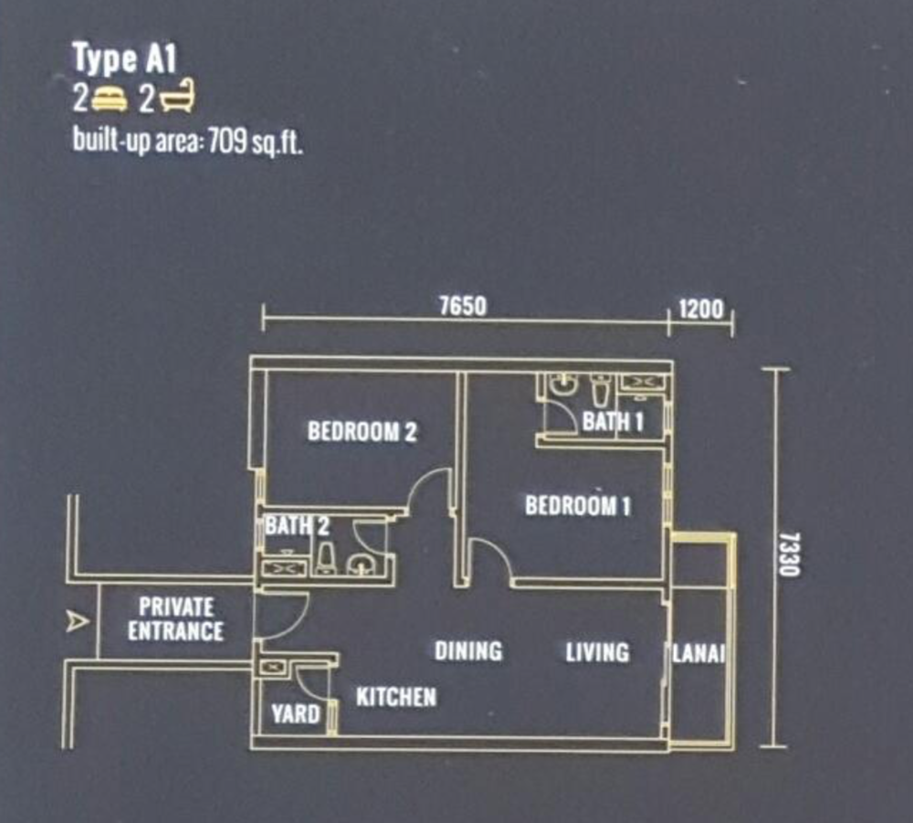 Pinnacle Type A1 Floor Plan