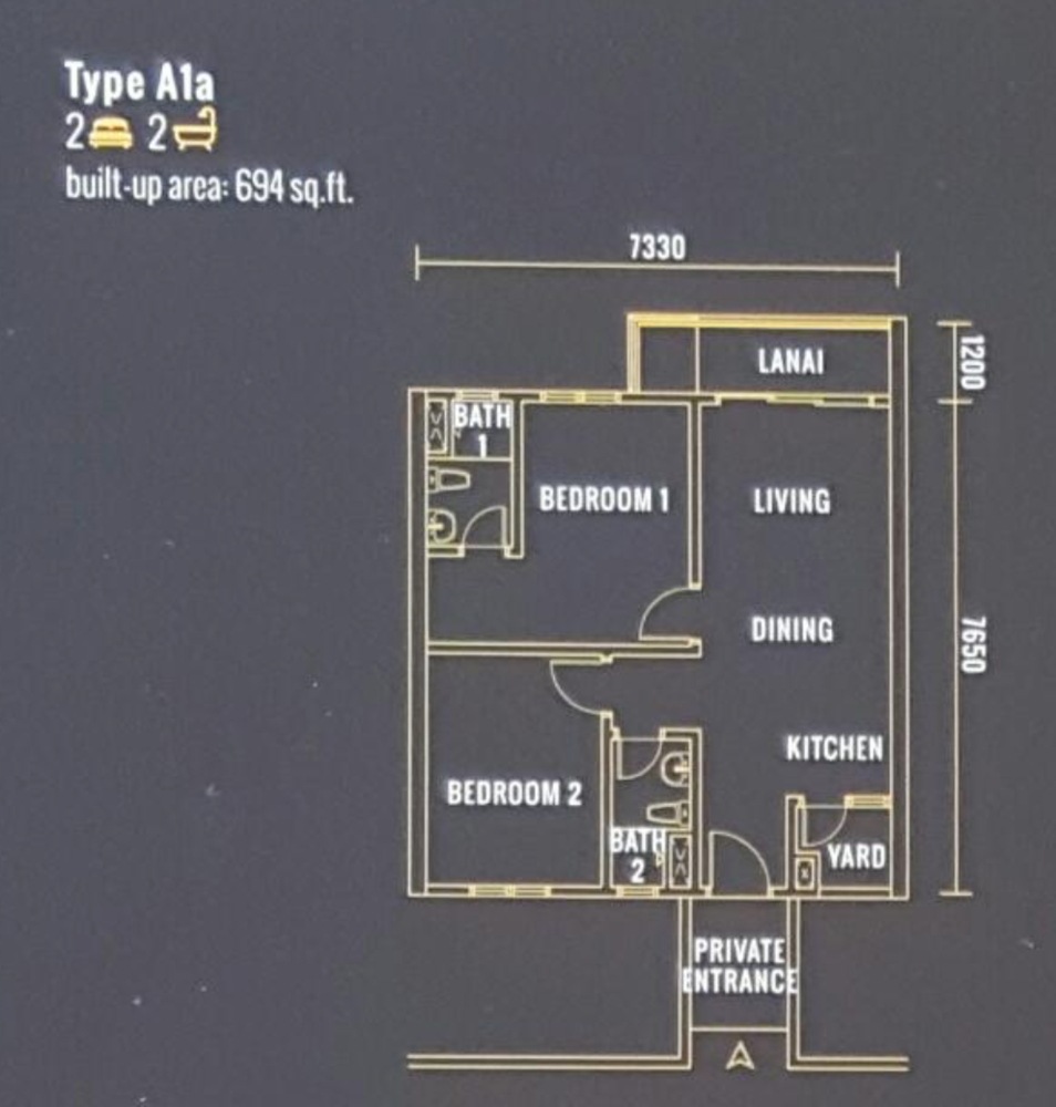 Pinnacle Type A1a Floor Plan