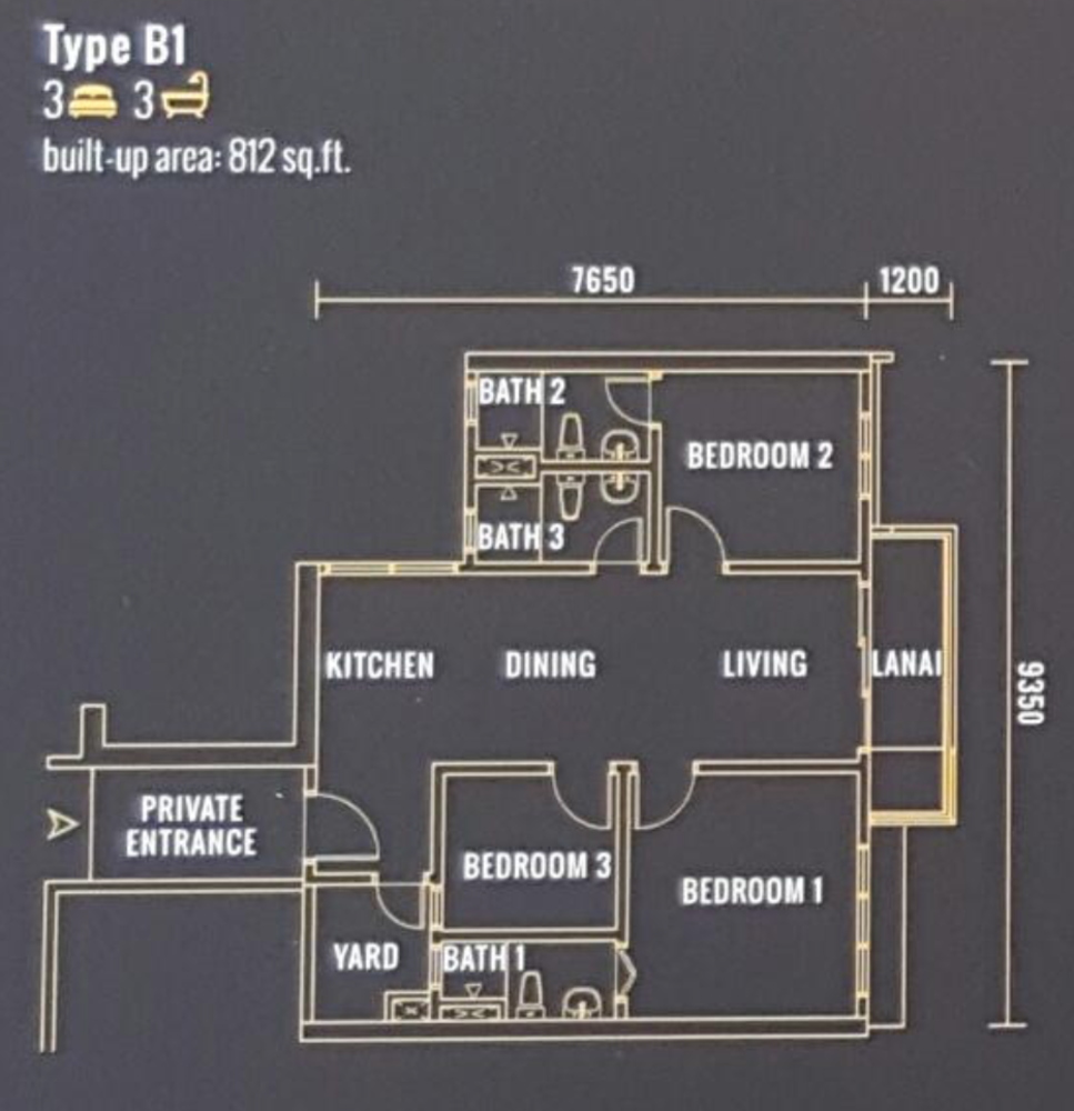 Pinnacle Type B1 Floor Plan