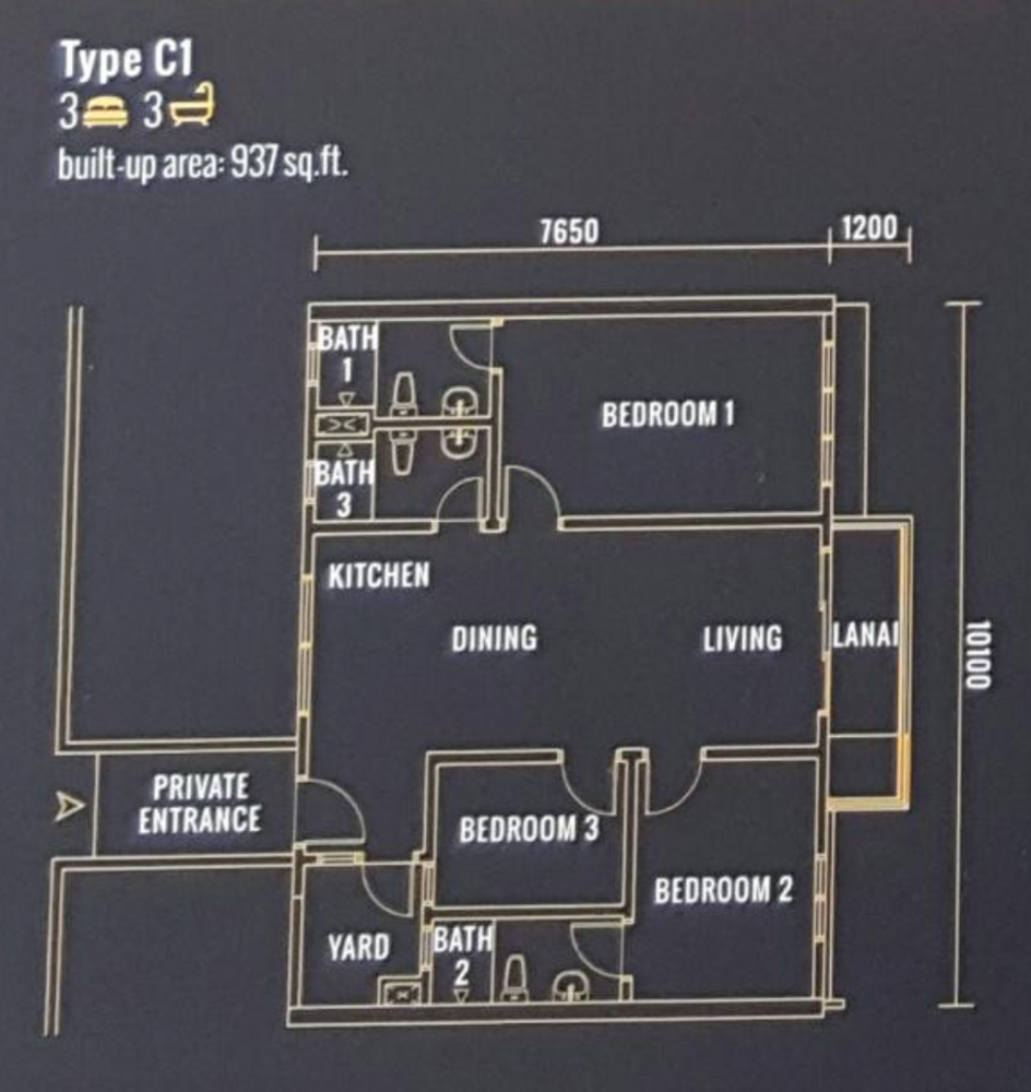 Pinnacle Type C1 Floor Plan