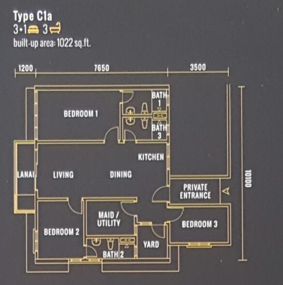 Pinnacle Type C1a  Floor Plan